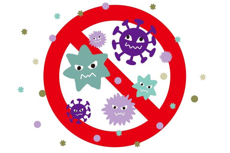 ウイルスを遮断しようというイメージのイラスト